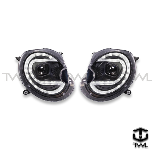 TWL-BMW MINI R56-Black LED halo projector headlight