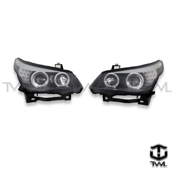 TWL-BMW E60-Black halo projector DIS headlight