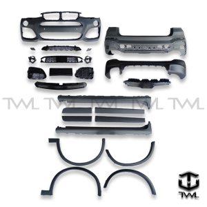 TWL-BMW F26 X4 20dX 20iX X4 28iX 30dX 35dX 35iX-Front and rear bumper side skirts wheel arcs