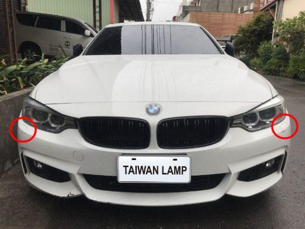 TWL-BMW F32 M4-Front bumper spray cover